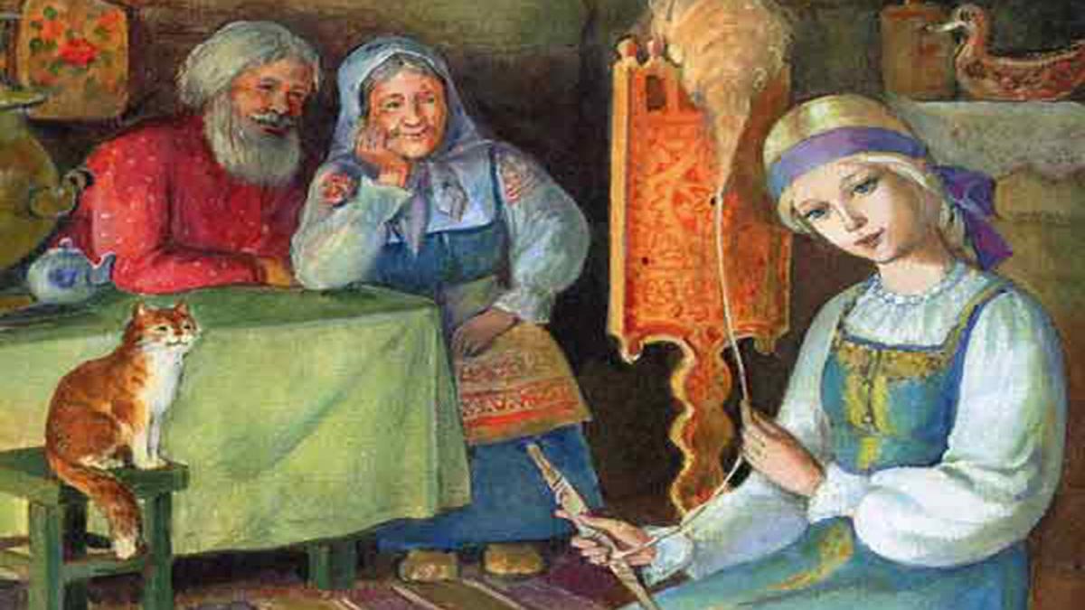 Умная внучка иллюстрации к сказке