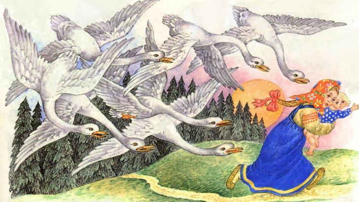 Сказка «Дикие лебеди»